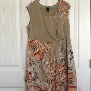 Lane Bryant sleeveless abstract print dress